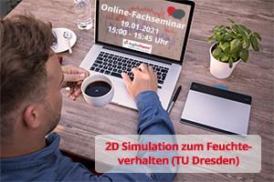 2D Simulation zum Feuchteverhalten (TU Dresden)