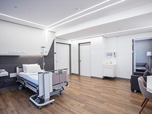 ArgillaTherm, Referenzen, Krankenhauszimmer, Krankenhaus, Klinik, Heizen, Kühlen, Kühlsystem, Raumklima, wohngesund, Gesundheit
